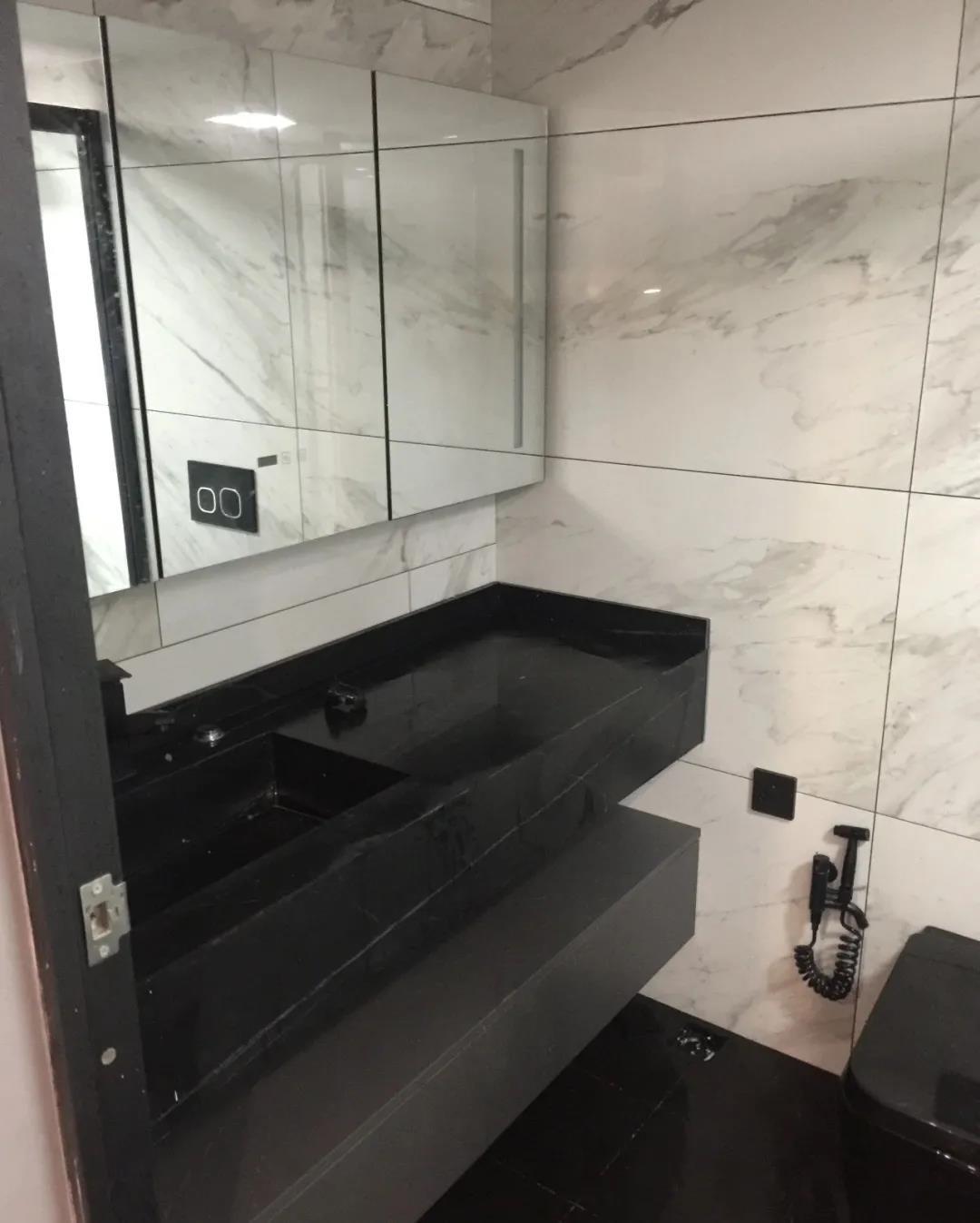 Black-marble-vanity top