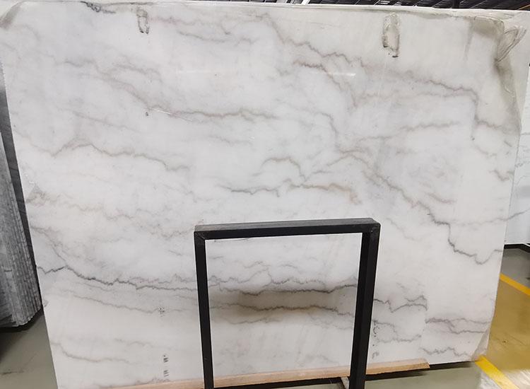 5I guangxi white marble slab
